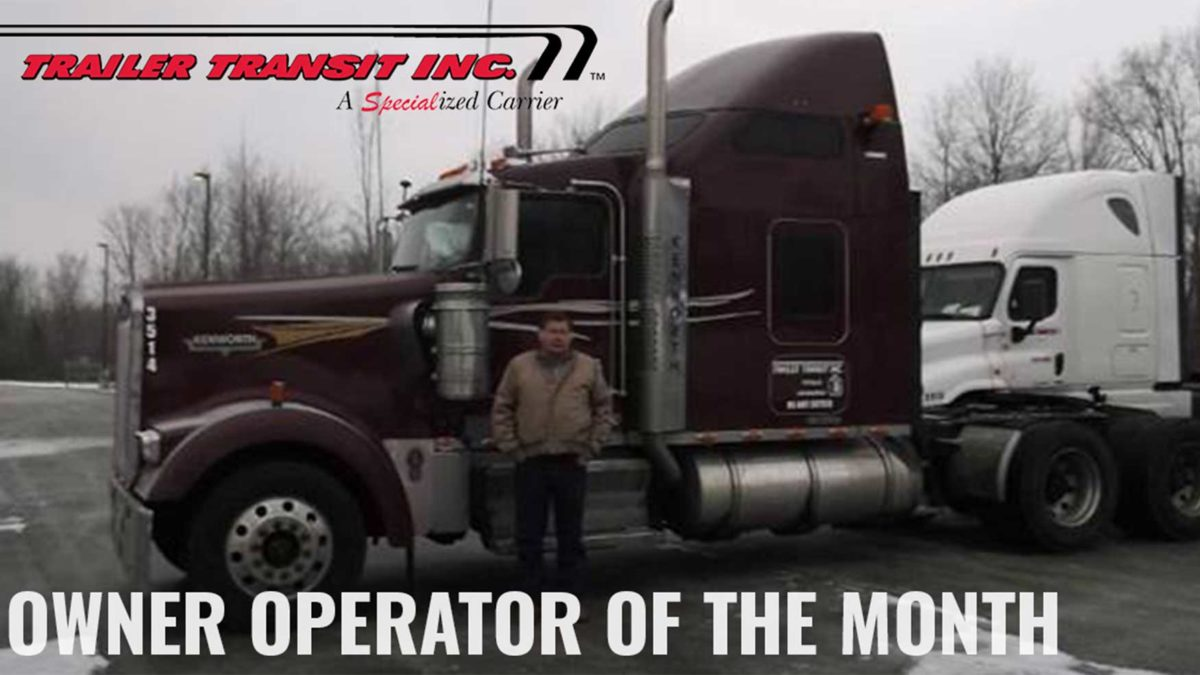 Congratulations July Owner Operator of the Month George Ernst, Unit #3514