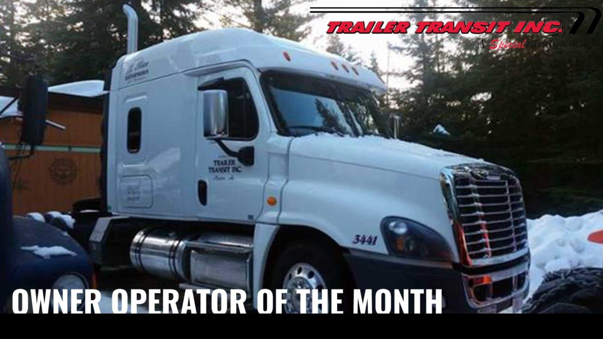 August Owner Operator of the Month Linda Leonard, Unit #3441