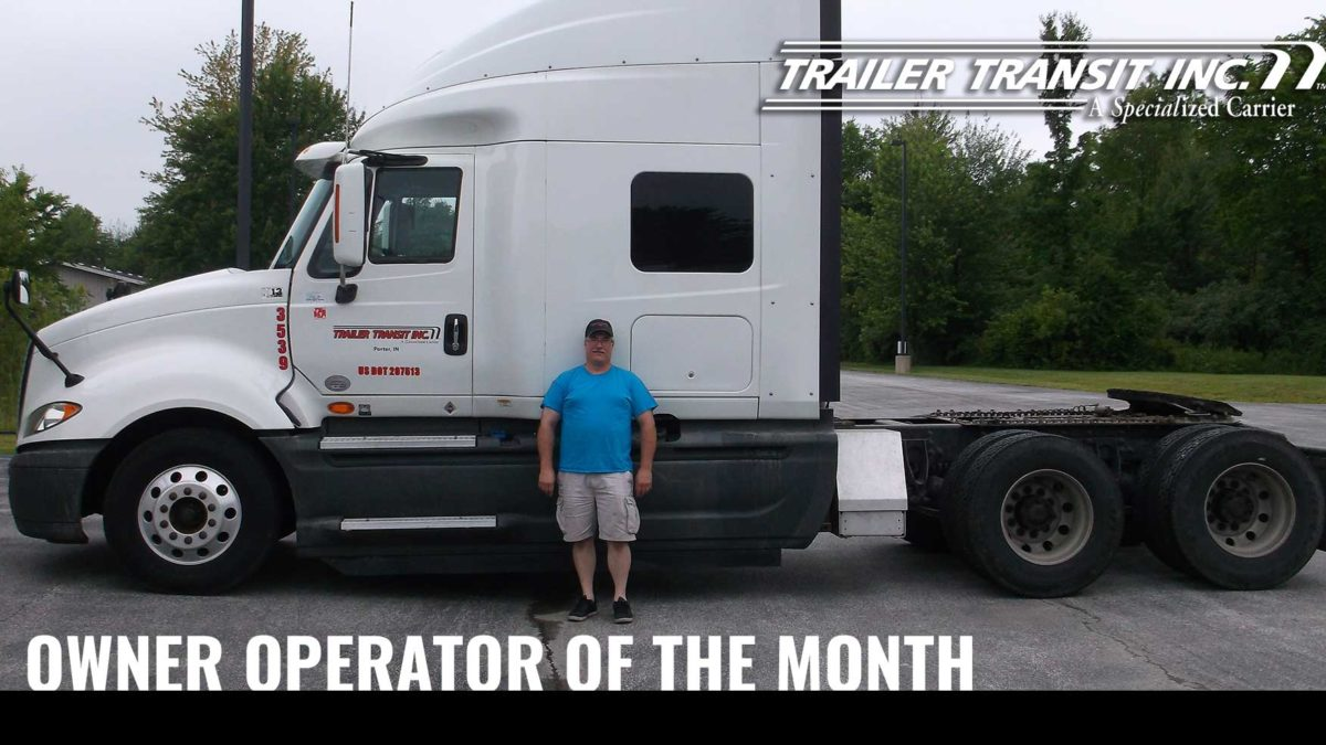 December Owner Operator of the Month Marty