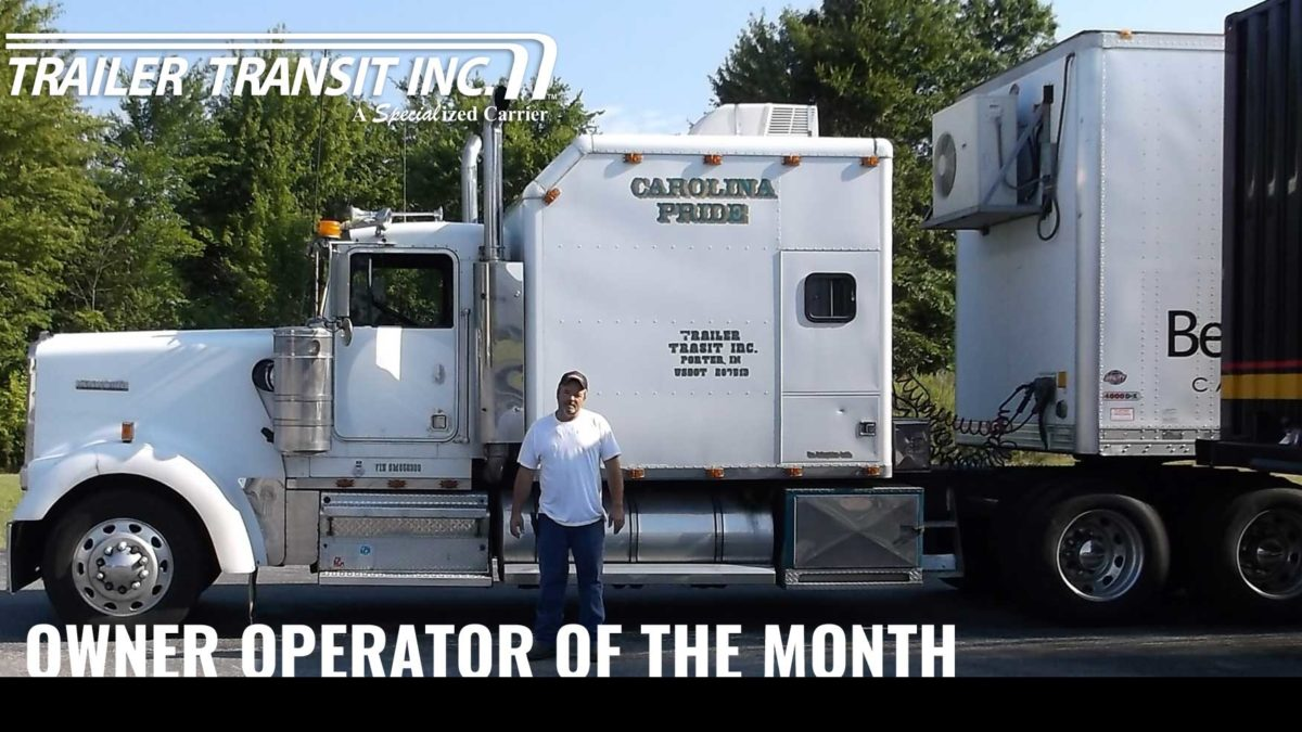 February Owner Operator of the Month Billy Unit #3197.