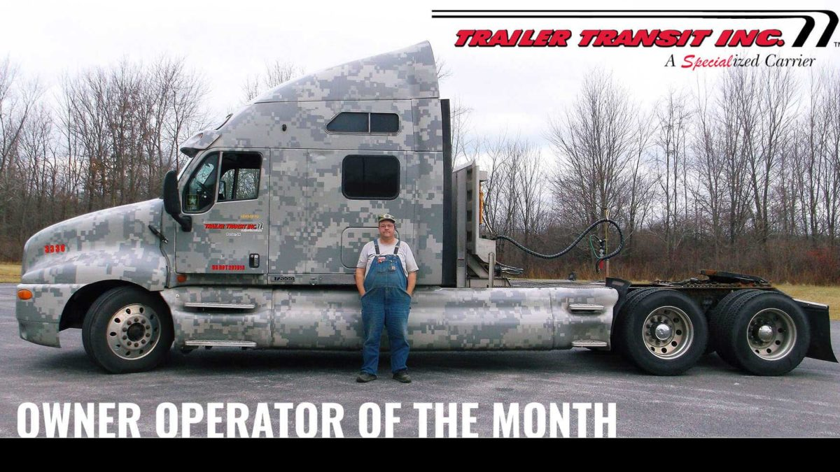 Trailer Transit Inc. Owner Operator of the month for April 2020