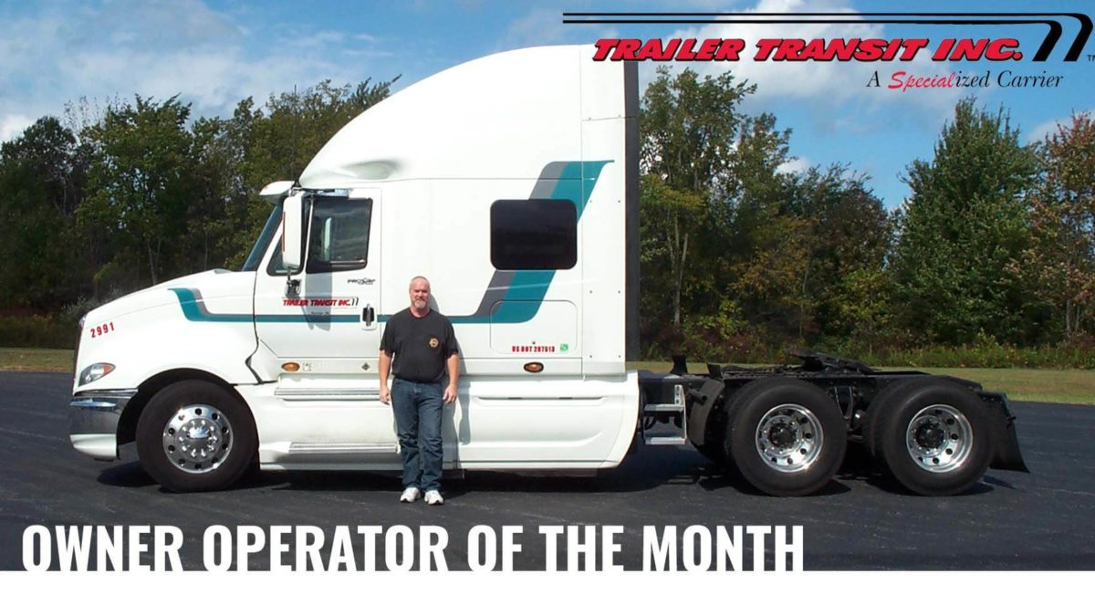Trailer Transit Inc. June Owner Operator of the Month