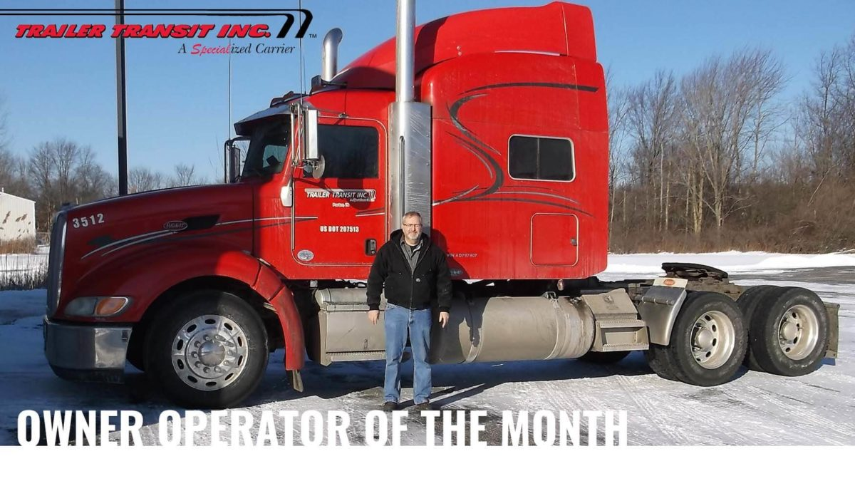 July Owner Operator of the Month – James