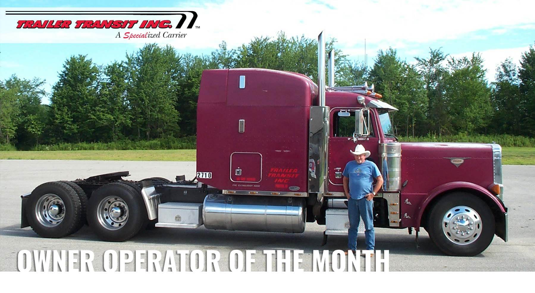 Congratulations to our October Owner Operator of the Month – Wayne, Unit #2710