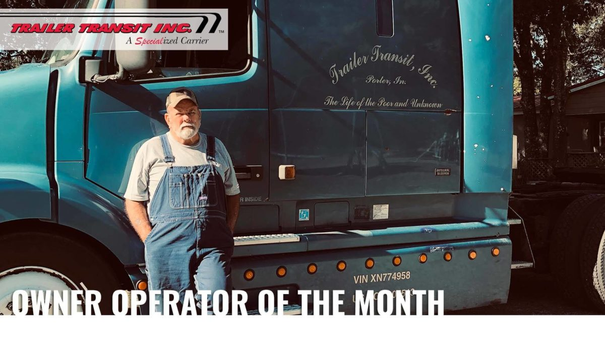 Congratulations to our September Owner Operator of the Month – Bill, Unit #2013