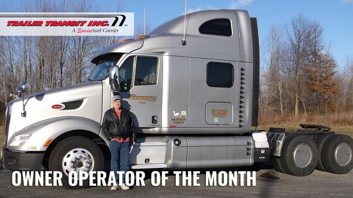 Trailer Transit Inc. Owner Operator of the Month for November 2020
